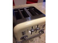 Toaster Morphy Richards, cream, 4 slices, excellent condition