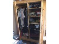 Ikea wooden wardrobe