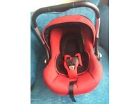 Red silver cross Ventura travel system with isofix base