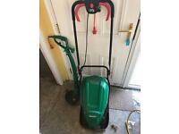Qualcast Lawnmower and Strimmer Set.