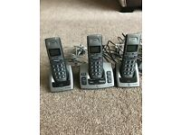 Cordless Telephones set of 3