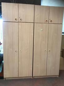 2 x Double Door Wardrobe & Top Box (Flat Packed)