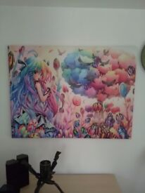 Anime canvas picture
