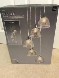 Next Bergen 5 light cluster pendant