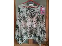 Ladies chiffon top size 20 NEXT