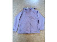 Ladies Trespass waterproof, hooded coat / jacket. Size XL (approx 16/18)