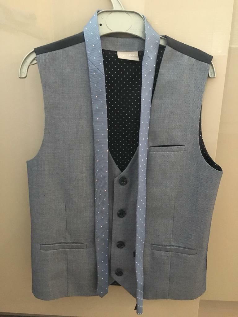 Boys Age 10 NEXT waistcoat tie and suit jacket