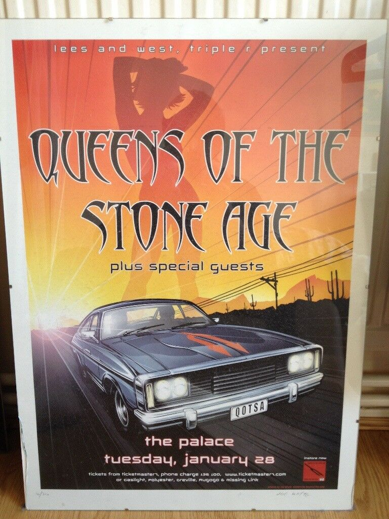 Queens Of The Stoneage Live @ The Palace gig poster RARE
