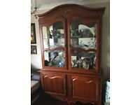 Solid Wood Display cabinet very good condition.