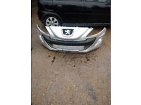 peugeut 308 front bumper in silver