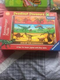 DINOSAUR JIGSAW PUZZLES - great gift quality