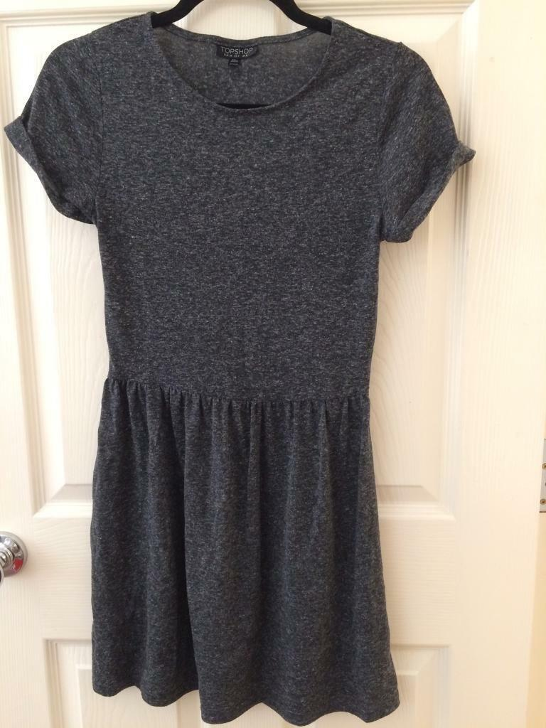Grey t-shirt skater dress  c5d030450da5