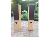 Tannoy floor-standing speakers, beech, excellent condition