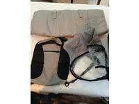 Child Carrier suitable to carry toddlers. has various accessories e.g. rain cover, pockets