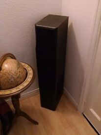 Large 2 x 5 Speaker system floor speakers and Amplifier. Perfect As New Condition.