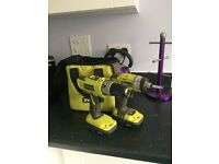 Ryobi drill and compacter