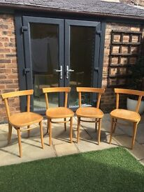 Lovely vintage habitat chairs x 4