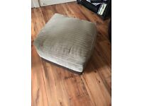 3 seater sofa, 2 chairs and storage footstool