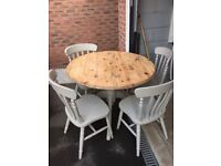 Laura Ashley Shabby Chic Dining Table and 4 Chairs!