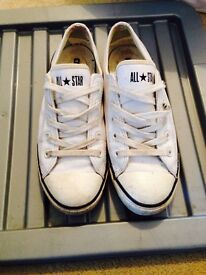 Leather converse size 5