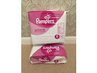 BNIB Pampers Active Fit, size 6, 64 pack
