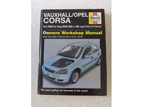 VAUXHALL/OPEL CORSA (Oct 2003 - Aug 2006) HAYNES WORKSHOP MANUAL *GOOD CONDITION*