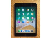 Apple iPad Mini 4 (16GB, WI-FI only), like new, boxed, official charger and case included, iOS 11.