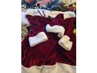 Ann summers santa dress and hat brand new with tags