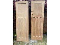 2 x pine doors and hardwood french doors