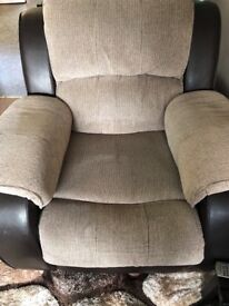 Charleston recliner 3 seat sofa and arm chair