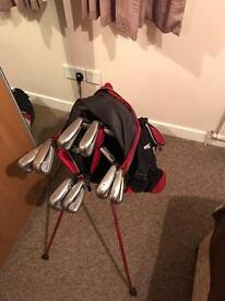 Set of Mizuno clubs & Titleist Stand Bag