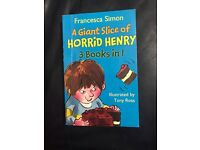 A giant slice of horrid Henry 3 books in 1