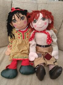 Rosie and Jim original large dolls RARE!