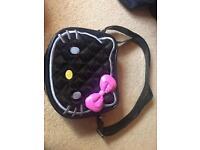 Black patent Hello Kitty handbag