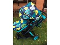Cosatto 2 Stroller Pushchair with foot muff and bag