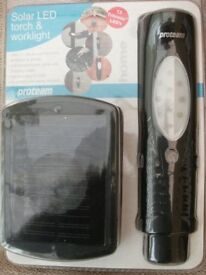 SOLAR TORCH & WORK LIGHT (New & Boxed)
