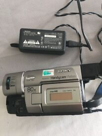 well looked after camcorder, comes with case and tape cleaner cassette , battery charger
