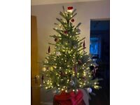 Pre-Lit Artificial Christmas Tree (with/without decorations)