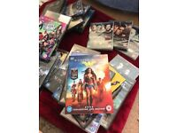 Brand new dvds. Still in wrapping. Box sets and movies
