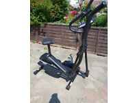 Elliptical trainer and exercise bike 2 in 1