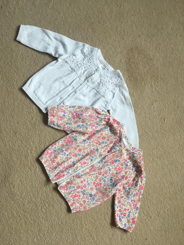 Girls Cardigans - Size 3-6m