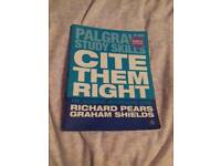 Palgrave Study Skills: Cite Them Right: The Essential Refencing Guide
