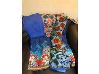 Beautiful asian khaddar suits with polachi dupatta💙🧡❤️
