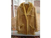 Genuine Sheepskin Coat Size 12