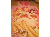 Disney princess reversible duvet cover with pillow case