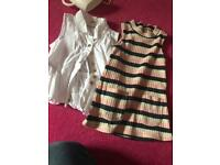 Baby girl river island top and dress