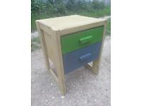 Upcycled, retro, hardwood chest of drawers.