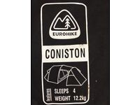 Barely used 4-man Coniston tent for sale