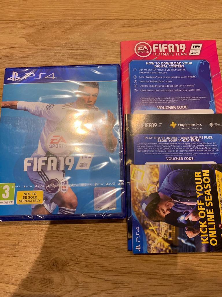 Fifa 19 hard copy with ultimate team and 14 day trial access to psn | in  Bournemouth, Dorset | Gumtree