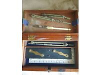 Vintage Military Drawing Instruments